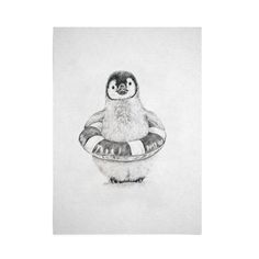 Baby Penguin Art Print by Emmaline Bailey endemicworld. everything art, all the time. Penguin Drawing, Penguin Art, Nz Art, Drawing Projects, Black And White Illustration, Ship Art, Realism Art, Penguins, Screen Printing
