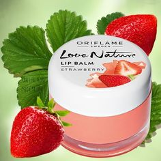 Love Nature Lip Balm - Strawberry Oriflame for sale Oriflame Business, Raspberry, Strawberry, Oriflame Cosmetics, Gel Mask, Beauty Kit, Face Lotion, Lip Care, Natural Cosmetics