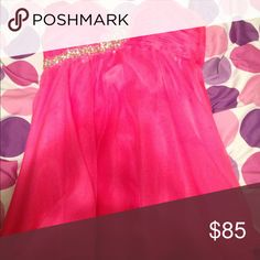 Neon Pink Prom/Homecoming dress Great condition . Only worn once . All sequins are there . Dresses Strapless