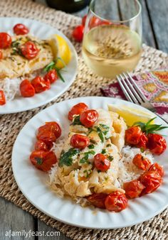 Poached Cod with Cherry Tomatoes - A Family Feast