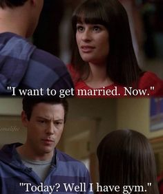 Finn and Rachel getting married