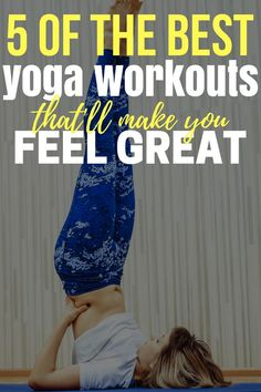 We have 5 of the best yoga workouts all in one post. Check them out and get started on feeling better about yourself. Fitness Tips For Men, Fitness Workout For Women, Health And Fitness Tips, Yoga Fitness, Bodyweight Training Program, Running Training Programs, Running Gear, Workouts For Teens, Yoga Workouts