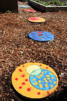 wouldn't these stepping stones look good in YOUR yard?  This uses either pre made  concrete step stones, or also describes how to make your own from scratch.  Great project