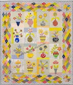 Potty McDotty by Irene Blanck Scrappy Quilts, Mini Quilts, Patchwork Quilting, Applique Quilts, Embroidery Applique, Fiber Art Quilts, Wedding Ring Quilt, Country Quilts, Basket Quilt