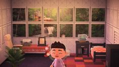 Tours of Animal Crossing towns and houses Animal Crossing Game, Lloyd Wright, Alien Logo, Ac Ac, Qr Codes, Minecraft, Window, Living Room, Design
