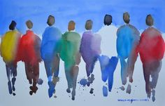 Passion People I Original Watercolor Painting by ArtistRMG on Etsy, $249.00