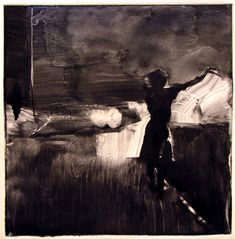 """Sleepwalking, from the ""Sleepwalking"" series, 1997 Tom Bennett Nocturne, Oeuvre D'art, Dark Art, Art Blog, Painting & Drawing, Printmaking, Watercolor Art, Art Photography, Illustration Art"