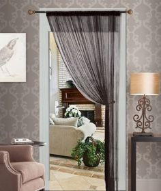 BKDZ Decorative Door String Curtain Beads Wall Panel Fringe Window Room Divider Blind for Wedding Coffee House Restaurant Parts Crystal Tassel Screen Home Decoration (Black) Beaded Curtains Doorway, Doorway Curtain, String Curtains, Door Curtains, Living Room Windows, New Living Room, Curtain Alternatives, Panel Blinds, Curtain Divider