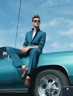 Suit by Hermès. Tank top by Acne. Shoes by Louis Vuitton. Sunglasses by Persol.   1  2  3  4  5  6  7  8  9  10