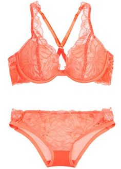 Stella McCartney lace racer-back bra, £100, and lace and mesh briefs, £50 - lingerie - underwear - shopping - fifty shades of grey