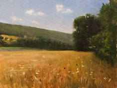 daily painting titled Barleyfield at Sault - click for enlargement