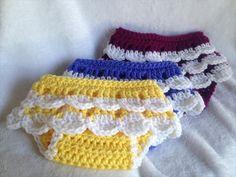 Crochet PATTERN - ruffled diaper cover, crochet baby skirt pattern, crochet diaper cover pattern, bYou can find Diaper cov. Baby Girl Crochet, Crochet Baby Clothes, Crochet For Kids, Diy Crochet, Crochet Ideas, Crochet Socks, Booties Crochet, Crochet Projects, Crochet Top