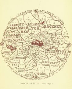 This map showing the boroughs of London, as they were in 1895. | 18 Beautiful And Weird Maps That Will Change How You Think About London