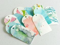 Handmade Watercolor Gift Tags