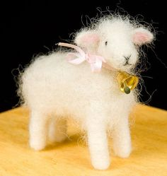 Needle Felting Kit from Woolpets has enough colored wool roving and all the needle felting supplies needed to create one lamb. These needle felting kits from Woolpets are the perfect way to learn the