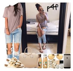 """Passion 4Fashion: Mocha Tea"" by shygurl1 ❤ liked on Polyvore featuring Givenchy, Charlotte Russe, Linda Farrow, Butter London, Michael Kors and Auriya"