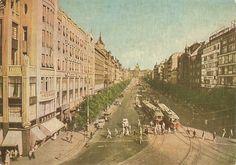 Václavské námestie v roku 1961 Mother Family, Places Of Interest, Bratislava, Czech Republic, Homeland, Old Photos, Postcards, Europe, Vacation