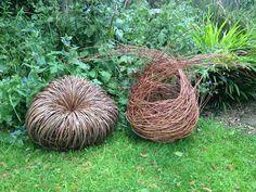 Baskets made using my random weave technique