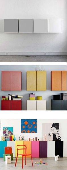 IVAR- storage you can customize. Design your own combination to fit your own space. With shelves, drawers and cabinets made of durable, unfinished, solid pine, you can paint or stain it too.