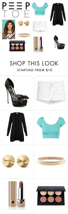 """Peep toes"" by fellowsfamily on Polyvore featuring Betsey Johnson, Monsoon, Eddie Borgo, Chanel and Marc Jacobs"
