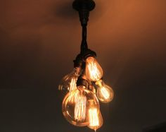 Industrial Vintage Look 5 light Edison Bulb by IronPipeLights