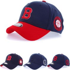 New Men Women Unisex Boston Red Sox B Logo Flexfit Baseball Cap Stretch Fit Hats #hellobincom #BaseballCapHats