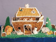 A gingerbread Noah's Ark -- talk about creativity!