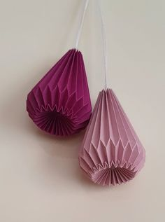 Origami Lampshade, Paper Diamond, Origami Folding, Kirigami, Paper Decorations, Display Ideas, Paper Cutting, Quilling, Pretty Dresses