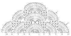 scalloped shawl graph