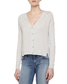 Spring Wardrobe - Cashmere Gia Long-Sleeve V-Neck Sweater by J Brand Ready to Wear at Bergdorf Goodman.