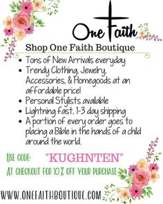 Save 10% with code KUGHNTEN  (not valid on subscriptions, faithboxes, giftcards) Boutique Homes, Shoe Boutique, Boutique Dresses, Boutique Clothing, Fashion Boutique, One Faith Boutique, Ladies Boutique, Trendy Clothes For Women, Trendy Outfits