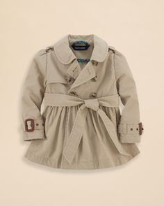 Ralph Lauren Childrenswear Infant Girls' Classic Trench Coat - Sizes 9-24 Months