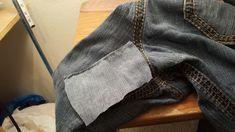 My favorite pair of jeans ripped in the crotch area- my jumbo thighs wore the fabric out! Boooooooooooooooooooooo! Here is how I repair burnouts in the crotches of jeans: Here's my rip 😮 the …
