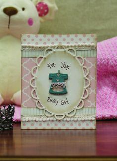 For your #baby girl #card :) Make one for a #gift tag, too! @Spellbinders