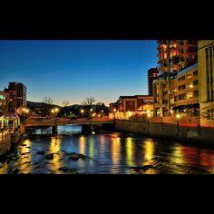 Downtown #Reno Riverwalk, Truckee River via @TahoeQuarterlyMagazine