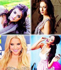 Lucy Hale(Aria Montgomery), Troian Bellisario(Spencer Hastings), Ashley Benson(Hannah Marin) and Shay Mitchell(Emily FIelds) - Preety Little Liars #PLL