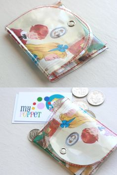 coinpurse. this isn't meant to be recycled but it seems to me it could work just as well with fused plastic bags!
