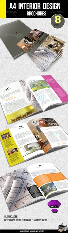 A4 Interior Design Brochure - GraphicRiver Item for Sale