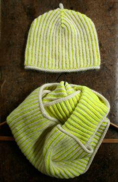 Gina's Brioche Hat and Cowl | The Purl Bee
