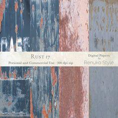 Rust 17 Photoshop Textures by Renuko Style on @creativemarket