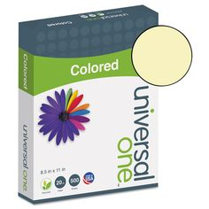 Colored Paper, 20lb, 8-1/2 x 11, Canary, 500 #Sheets/Ream UNV11201