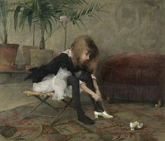 Helene (Helena Sofia) Schjerfbeck, Tanssiaiskengät 1882 – Wikipedia
