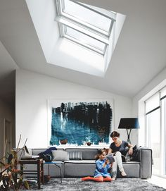 View our living room gallery of images leaving you feeling inspired to get your very own VELUX skylights and roof windows.