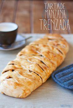 Sweet&Knit: Receta de Tarta de Manzana Trenzada con hojaldre