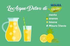 Basta qualche goccia di Misura Stevia liquido e quest'acqua detox vi sembrerà un cocktail analcolico da gustare a bordo piscina o in riva al mare.