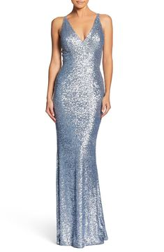 Dress The Population Harper Mermaid Gown In Ice Blue Satin Dresses, Blue Dresses, Silver Gown, Dress The Population, Blue Gown, Beaded Gown, Mermaid Gown, Formal Gowns, Formal Wear