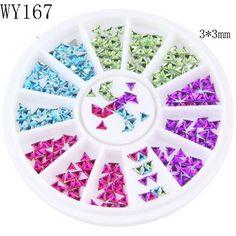New Arrival Nail Glitter Colorful Horse Eyes Design Stone Crystal Nail Wheel Make Up Decoration Wheel Nail Art Slices DIY WY161