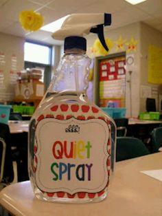 Quiet spray...great 4 teachers