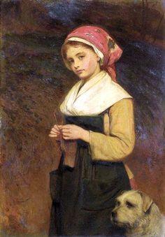 "Charles Sillem Lidderdale, ""Knitting"""