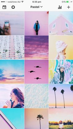 SUMMER INSTAGRAM THEME IDEAS (+tips & filters) Pastel Filter, Pink Filter, Aesthetic Backgrounds, Aesthetic Wallpapers, Bffs, Vibes Tumblr, Videos Photos, Pink Aesthetic, Aesthetic Collage